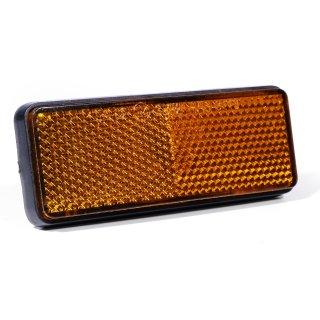 Reflektor Katzenauge Rück- Seitenstrahler orange selbstklebend Motorrad KFZ ECE