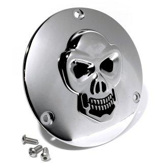 3D Totenkopf Kupplungsdeckel Chrom für Harley 70-98 Evo Shovel Derbycover Skull