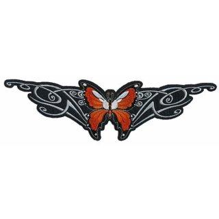 Oranger Schmetterling Aufnäher 30x9cm Butterfly Tribal XLPatch Rücken Weste Neu