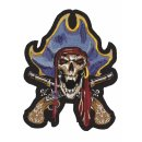 Pirat Kapitän Aufnäher 16x13 cm Pirate Captian Patch...