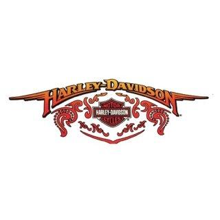 Harley Davidson Aufkleber Nostalgische Flügel 23 x 10 cm Nostalgic Wings XXL