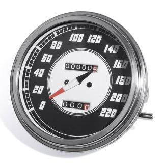 Tacho 1:1 Km/h für Harley Davidson Dash Shovel WLA Fatbob Tank Flat Pan Getriebe