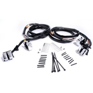 Handlebar Wiring Harness with chromed switches fits HD 96- on