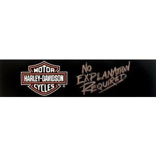 Harley Davidson Aufkleber Keine Erklärung nötig 30  x7,5 No Explanation Required