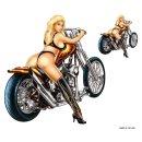 Aufkleber Set Sexy Blondine Heckansicht auf Bike 11x11cm...
