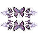 Tribal Purple Butterfly decoration decal Set