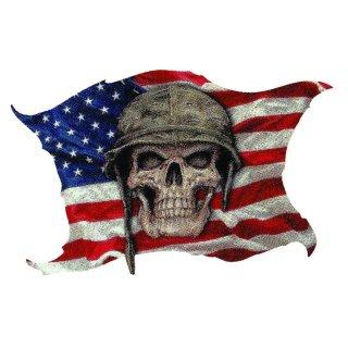 Aufkleber USA Soldat in Erinnerung und Gedenken Totenkopf