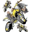 Aufkleber Set Irrer auf Enduro Gelb 17x14 Yellow Air...