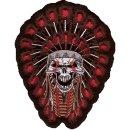 Indianer Totenkopf Aufnäher 18x14 cm Indian Skull...