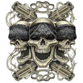 Aufkleber Gemeine Unterwelt 16 x 14 cm Mean Street Decal Pistole Totenkopf Kunst