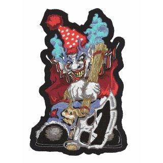 Grausamer Clown mit Axt Aufnäher 17x12 CM Ugly Ax Clown Patch Gemein Hässlich HD