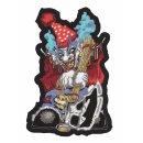 Grausamer Clown mit Axt Aufnäher 17x12 CM Ugly Ax...