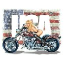 Miss Custom Bike USA Aufkleber 13x11cm Miss Ride Pin Up...