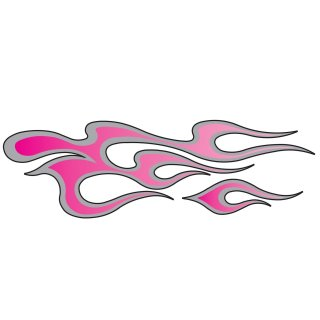 Aufkleber Rosa Flammen Links 20 x 6 cm Tank Airbrush Pink Flames Left Decal