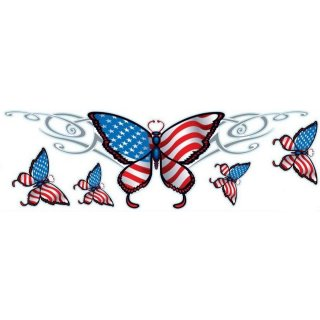 USA Schmetterling Aufkleber Set 20x6cm Butterfly Decal Tribal Helm Tank Airbrush
