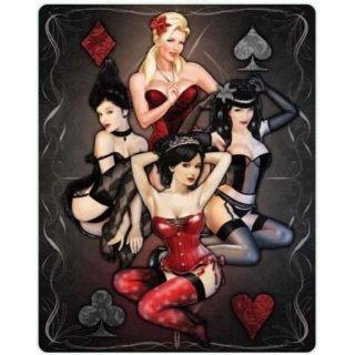 Aufkleber Four of a Kind Pin Up Girl Sticker Vier von einer Sorte Zocker Babe