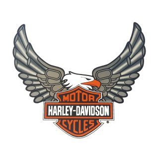 Harley Davidson Aufkleber 19 x 20 cm Windshield Adler Bar + Shield Eagle XXL
