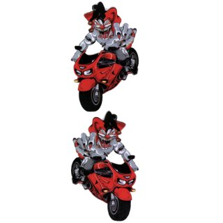 Joker Rot Motorrad Aufkleber Set RED Red Jester Sport Bike Decal Streetfighter