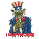 Aufkleber Zombie Uncle Sam Helmet Skull Sticker 8,3 x 6,3...