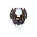 Aufkleber Adler American Build Helmet Sticker 7,5 x 6 cm