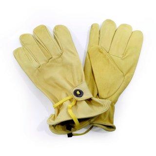 """Leder Sommer Handschuhe """"Cowboy"""" Chopper Harley Suzuki Reiten Garten Arbeit Gelb"""