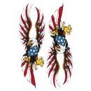 Aufkleber USA Eagle Set 10 x 3,5 cm Adler Airbrush Helm...