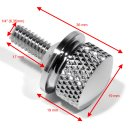 Seat Mounting Bolt Screw Quick Release Chrome for Harley...
