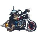 Aufkleber Verrückter Totenkopf Biker 8,5 x 6,5 cm...